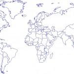 Autocad dünya haritası çizimi