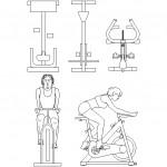Autocad fitness bisikleti