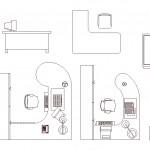 Autocad ofis masası çizimleri