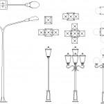 Autocad sokak lambaları