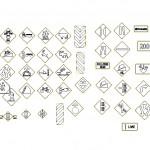 Autocad trafik işaretleri