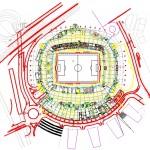 Futbol sahası planı