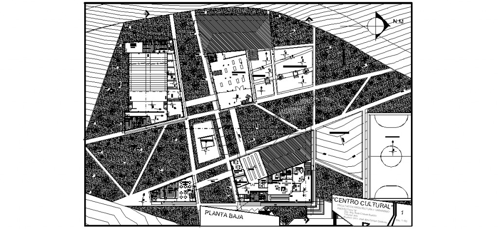 Kültür merkezi zemin kat planları