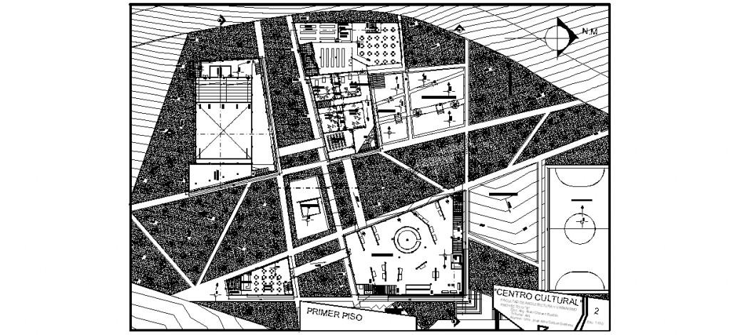 Kültür merkezi 1. kat planları
