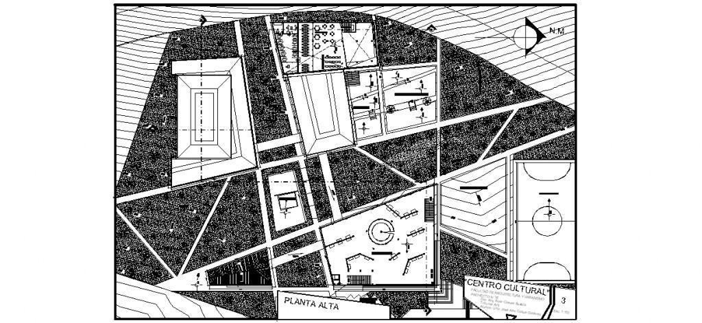 Kültür merkezi 2. kat planları