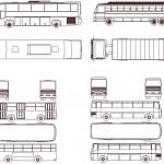 Otobüs çizimi dwg
