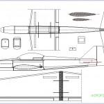 Acrofovic 40 model uçak çizimi