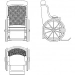Ahşap engelli sandalyesi