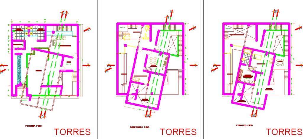 Villa projesi kat planları