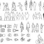 Autocad 2d insan çizimleri