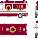 Autocad ambulans çizimi