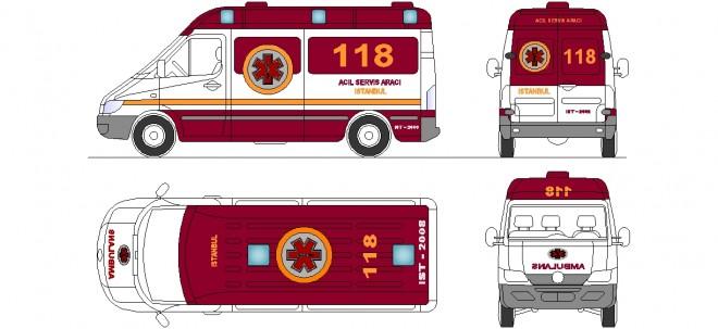 autocad-ambulans-cizimi-dwgindir