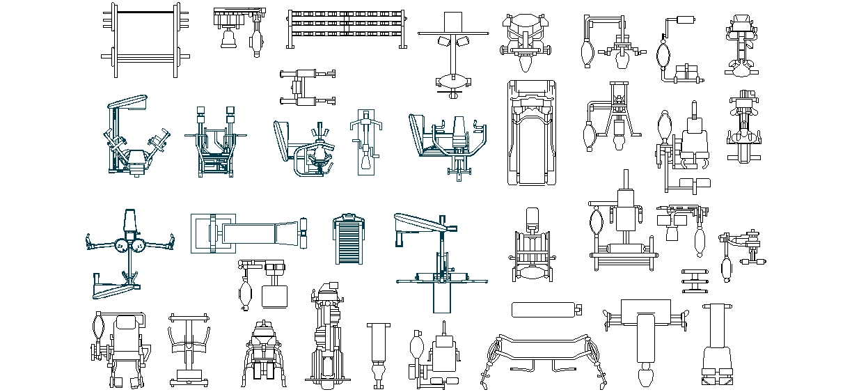 Autocad blocks gym equipments free download joy studio