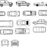 Autocad kütüphanesi arabalar