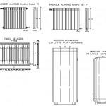 Autocad radyatör çizimleri