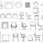 Autocad sandalye çizimleri