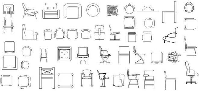 autocad-sandalye-cizimleri-dwgindir