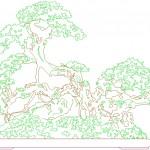 Bonsai ağacı dwg