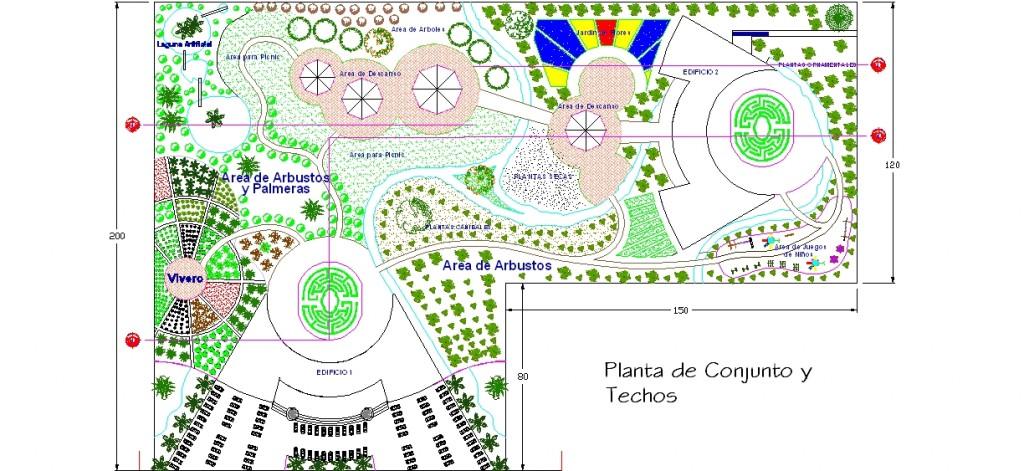 Botanik park vaziyet planı yakından görünüş