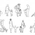 Çocuklu insan çizimleri