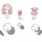 Gölgeli ağaç çizimleri