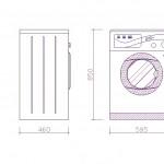 Haier çamaşır makinesi çizimi
