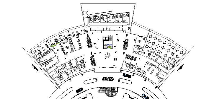 Havalimanı projesi kat planı yakın görünüşü