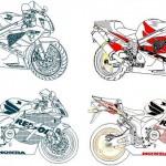 Honda cbr 1000 rr çizimi