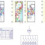 İki katlı ev elektrik projesi