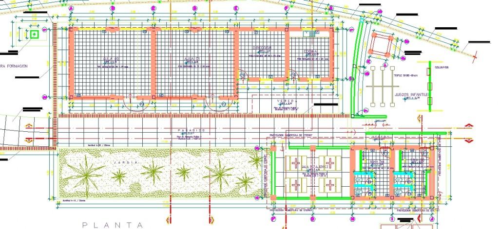 İlkokul binası planı