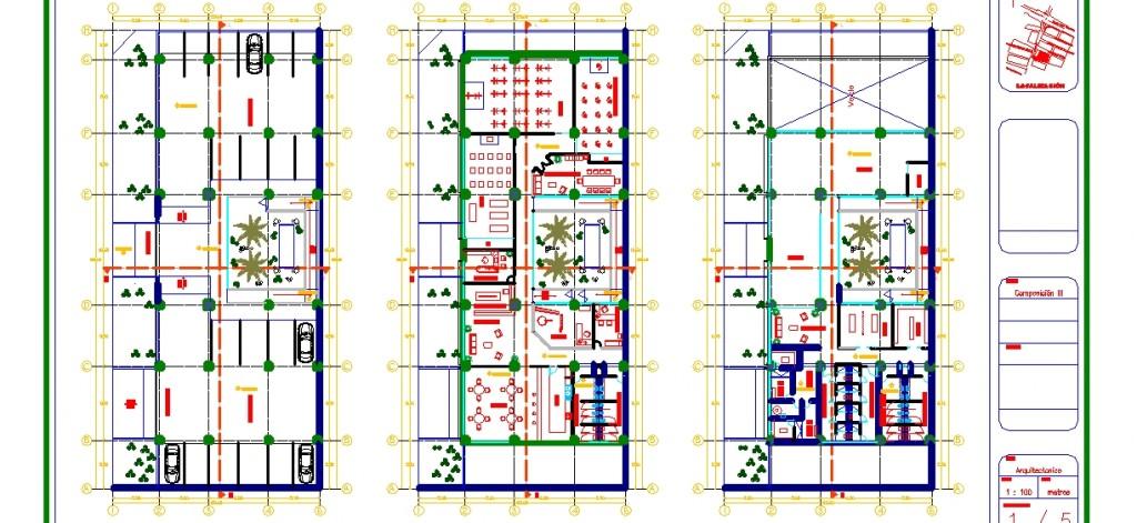 Jimnastik merkezi projesi kat planları