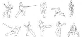 karate-yapan-insan-cizimleri-dwgindir