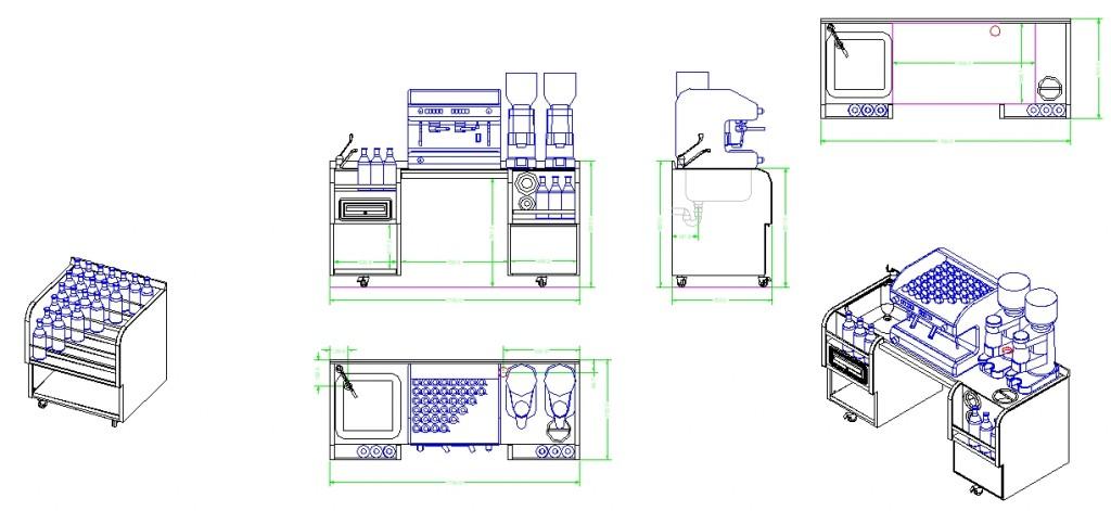 Modüler çalışma tezgahları yakından görünüş 1