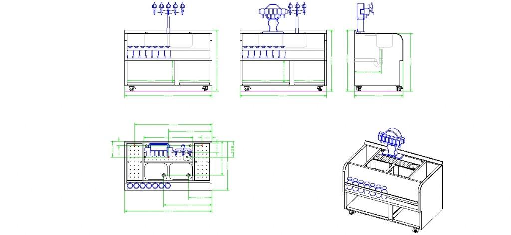 Modüler çalışma tezgahları yakından görünüş 2