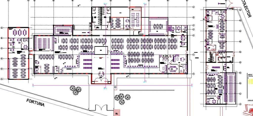 Ofis binası kat planı yakın görünüşü