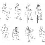 Oturan insan tefrişleri
