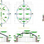 Oval skylight çatı detayı