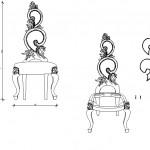 Sandalye detay çizimi