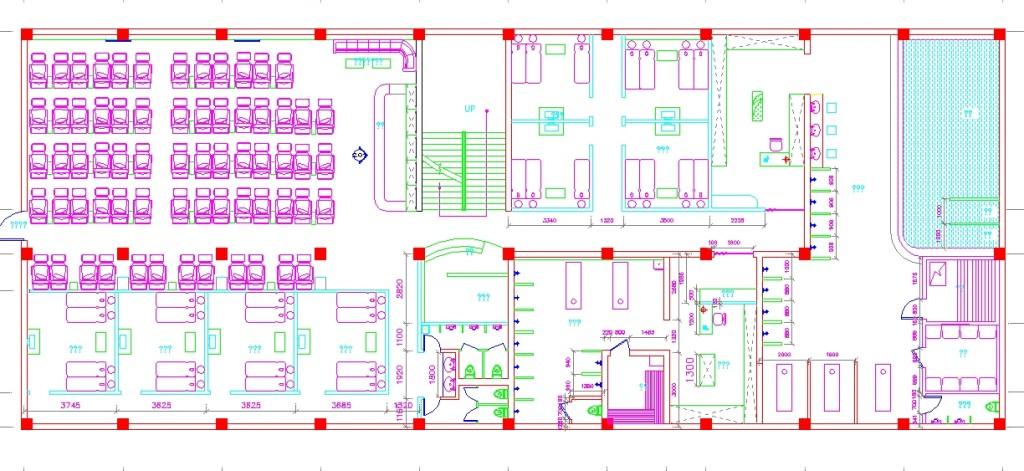 Spa merkezi bodrum kat planı