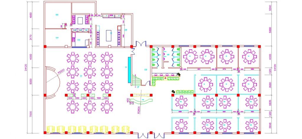 Spa merkezi zemin kat planı