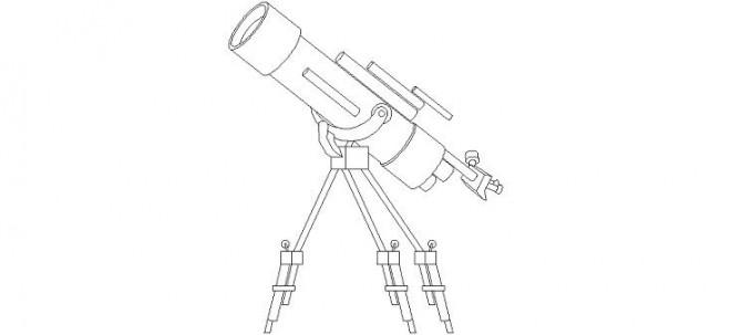 teleskop-cizimi-dwgindir