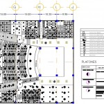 Tiyatro binası aydınlatma ve havalandırma tavan planı