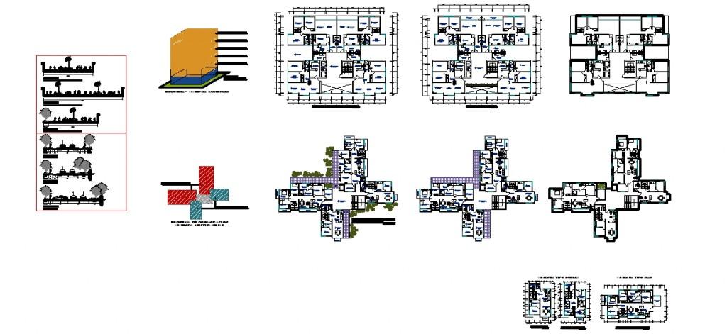 Yapılara ait kat planları ve fonksiyon şemaları