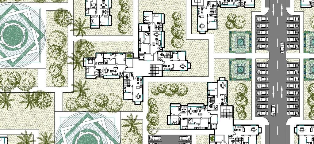 Toplu konut projesi yakın plan görünüşü - 2