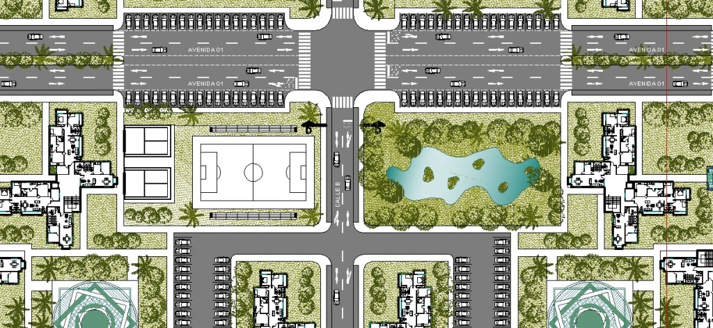 Toplu konut projesi yakın plan görünüşü - 3