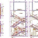 U merdiven detayları