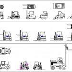 Autocad forklift çizimleri