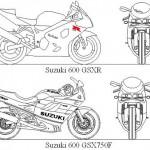 Autocad suzuki motosiklet çizimleri