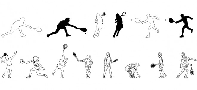 autocad-tenis-oyunculari-dwgindir
