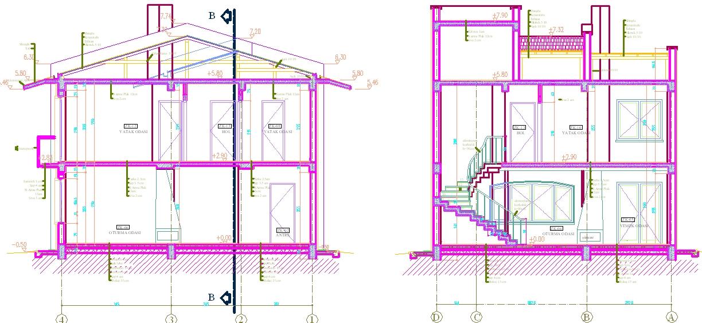 Villa autocad dwg joy studio design gallery best design for Villa plan dwg